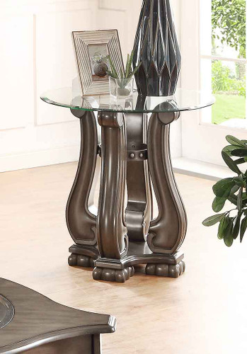 MADISON WOOD END TABLE GREY-4320GY/02