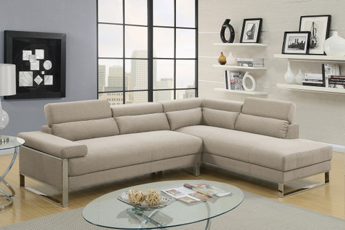 2PCS BEIGE COLOR SECTIONAL SET-F6540