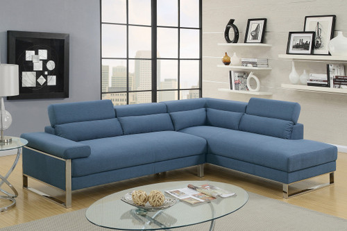 2PCS BLUE COLOR SECTIONAL SET-F6541