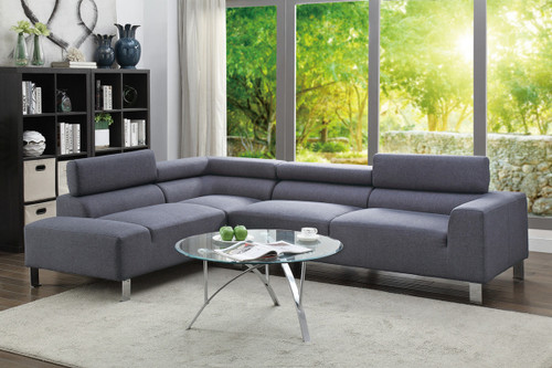2PCS BLUE GREY SECTIONAL SET-F7315