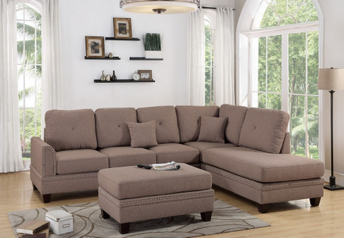 2PCS COFFEE SECTIONAL SOFA-F6513