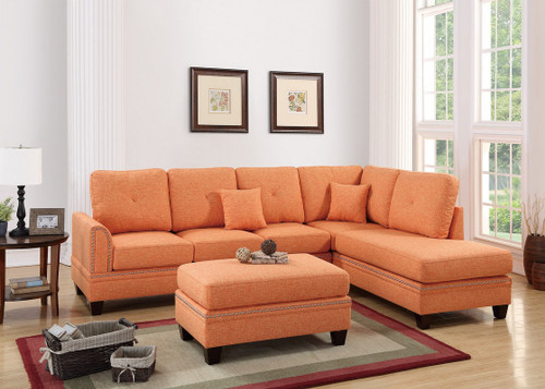 2PC PAISLEY SECTIONAL SET IN CITRUS