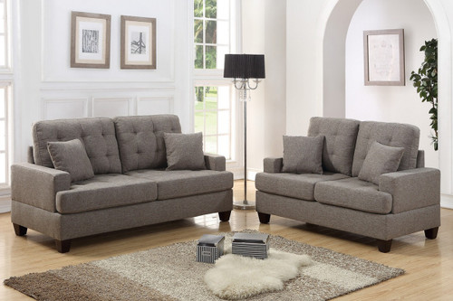 2PCS COFFEE COLOR SOFA SET-F6501