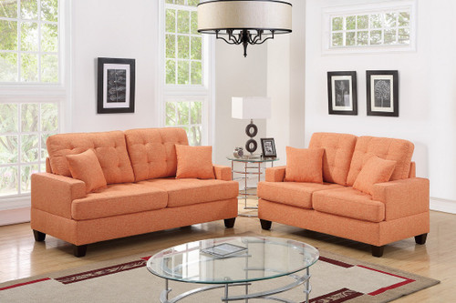 2PCS CITRUS COLOR SOFA SET-F6503