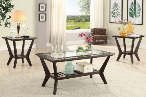 3PCS WOOD FINISH COFFEE TABLE SET-F3111