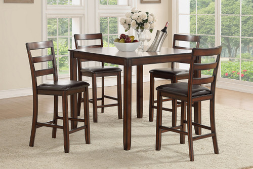 5PCS COUNTER HEIGHT TABLE SET-F2546