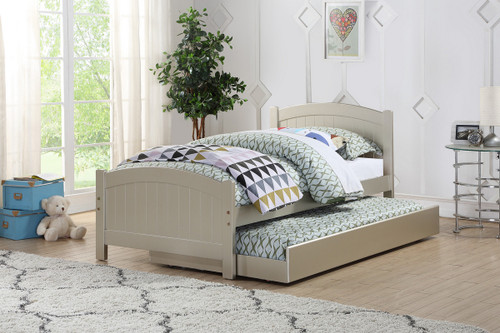 TWIN BED W/TRUNDLE SLV-F9276