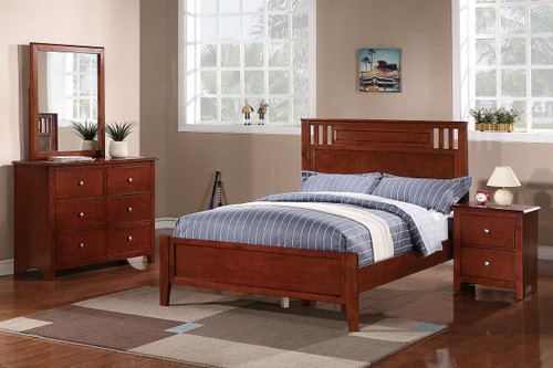 OAK FINISH TWIN/FULL BED FRAME-F9047