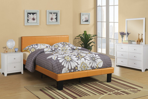 TWIN/FULL BED PU CITRUS FAUX LEATHER-F9205