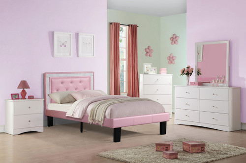 TWIN BED PU PINK-F9375