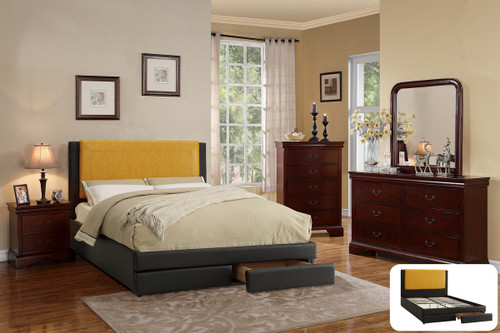 FULL BED CITRUS FAUX LEATHER-F9364