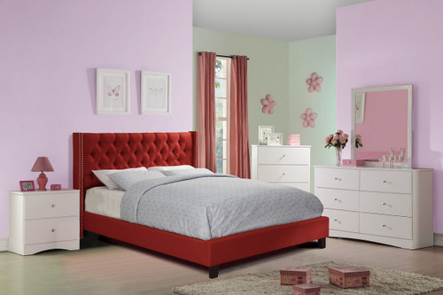 FULL BED NAILHEAD CARMINE-F9372