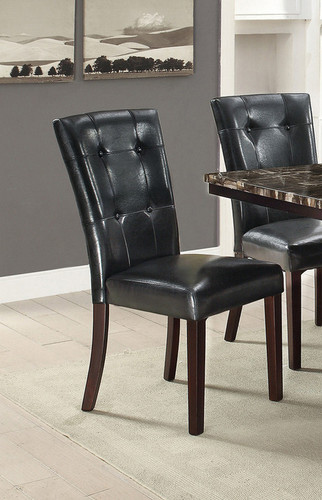 2PCS BLACK DINING CHAIR SET-F1750
