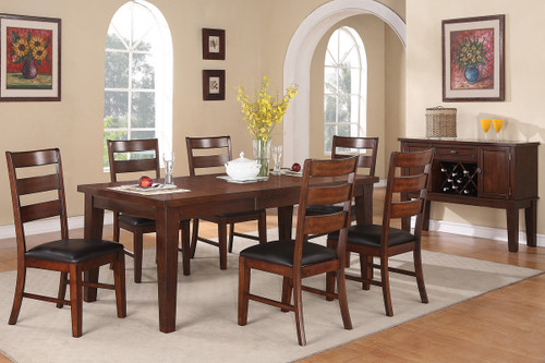 BROWN DINING TABLE-F2207