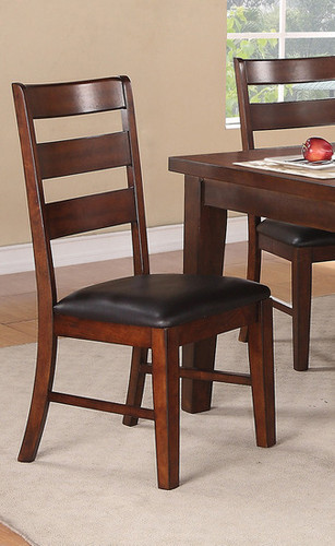 2PCS DARK CHOCO SEAT DINING CHAIR SET-F1283