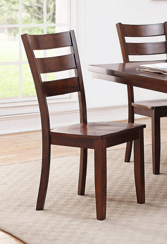 2PCS WOODEN SEAT DINING CHAIR SET-F1441