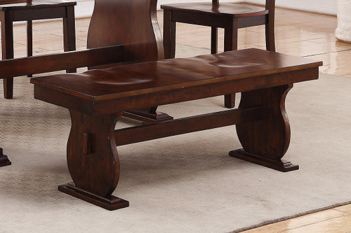 WOODEN FINISH DINING BENCH-F1442