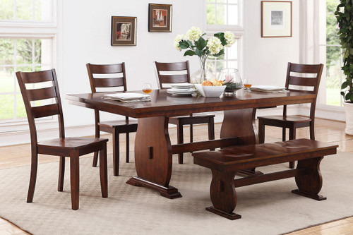 WOODEN TOP DINING TABLE-F2239