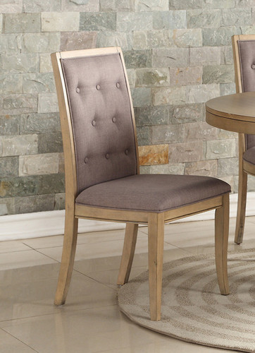 2PCS NATURAL WOOD DINING CHAIR SET-F1725