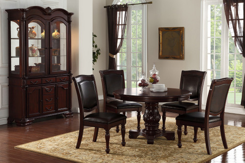 5PCS CHERRY ROUND DINING TABLE SET-F2187-F1729