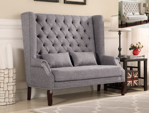 KAYLEE LOVESEAT IN GRAY-4942GY
