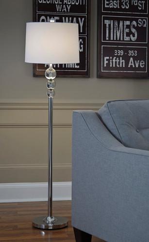 JOAQUIN CLEAR CHROME FINISH FLOOR LAMP-L428081