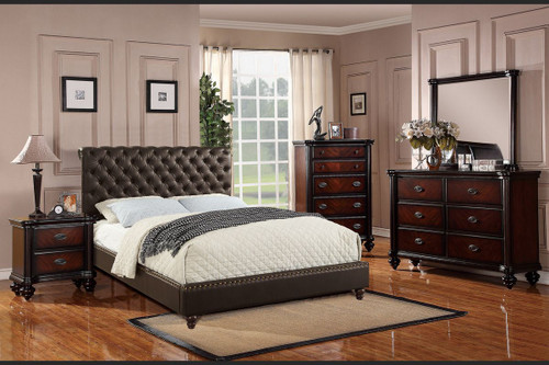 6 PCS EMERY PLATFORM BEDROOM SET