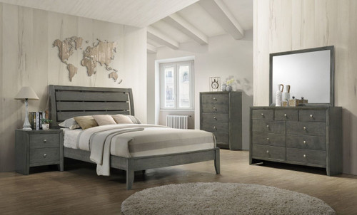 6 PCS EVAN GREY BEDROOM SET