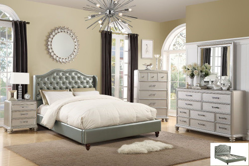 6 PCS HARMONY PLATFORM BEDROOM SET