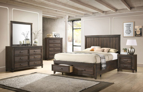 6 PCS PRESLEY PLATFORM BEDROOM SET-B3150