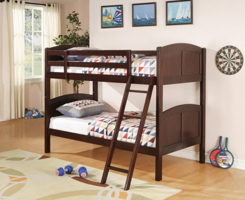 PARKER TWIN/TWIN BUNKBED IN CHESTNUT
