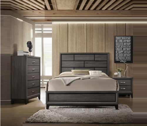 5 PC AKERSON GREY BEDROOM SET