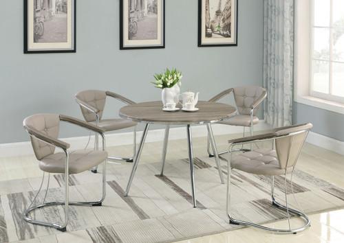 GENE ROUND DINING TABLE 5 PIECE SET-1273T/S