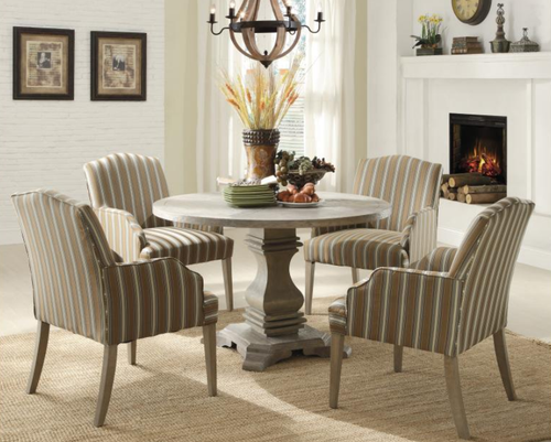EURO CASUAL COLLECTION ROUND DINING TABLE GREY COLOR