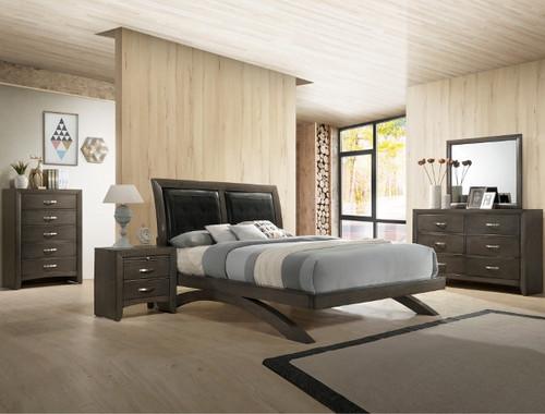 GALINDA COLLECTION GREY BED-B4370