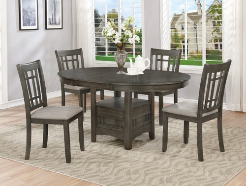 5 PCS HARTWELL DINING TABLE GREY SET-2195GY-T