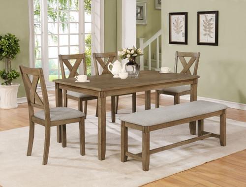 CLARA DINING TABLE 5 PIECE SET-2321WT-SET