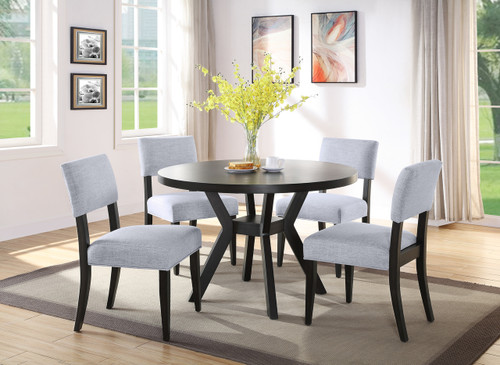 5 PCS MAYA DINING TABLE CHARCOAL SET-2631T-48