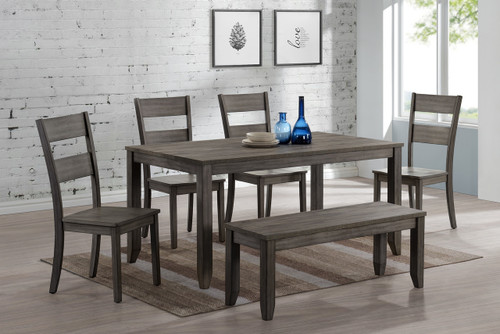 5 PCS SEAN MELAMINE DINING TABLE SET