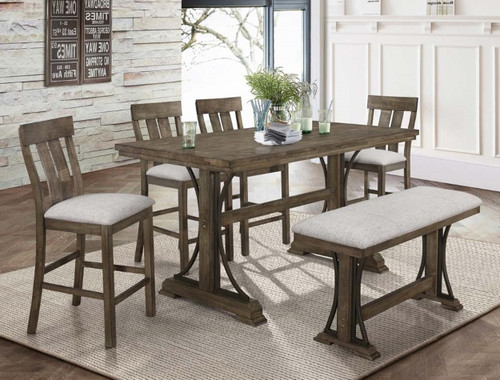 5 PCS QUINCY COUNTER HEIGHT TABLE SET-2831T-3671