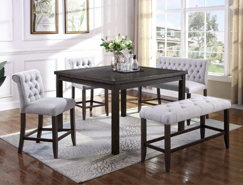 5 PCS PALMER COUNTER HEIGHT TABLE SET-2622T-5454