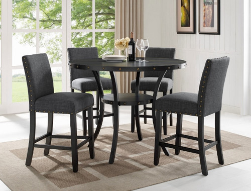5 PCS WALLACE COUNTER HEIGHT TABLE SET-1713DGY-T-48