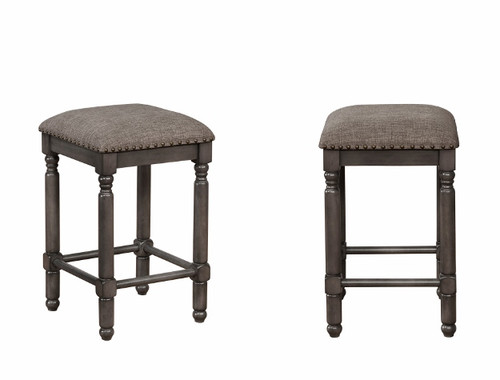 CHADWICK GREY COUNTER HEIGHT STOOL 2PCS SET-2782C-24-GY