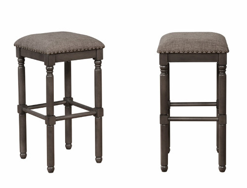 CHADWICK GREY BAR HEIGHT STOOL 2PCS SET-2982C-29-GY