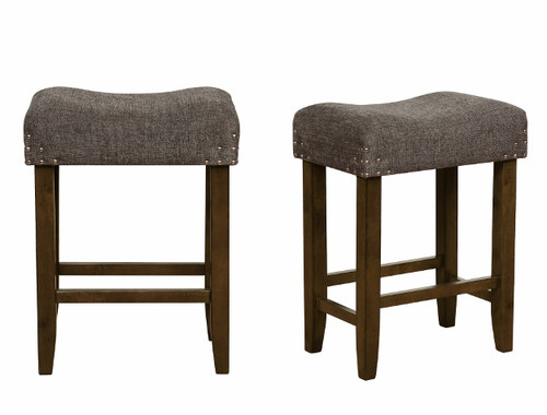 SHEENA COUNTER HEIGHT STOOL 2PCS SET-2783C-24-DGY