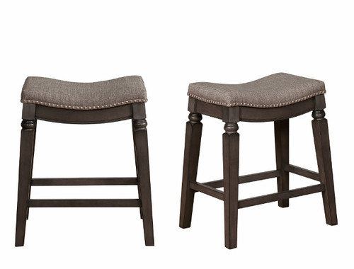 FARLIN COUNTER HEIGHT STOOL 2PCS SET-2784C-24-GY