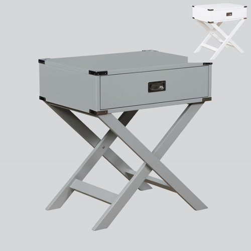HUDSON CHAIRSIDE TABLE GREY-7168-GY