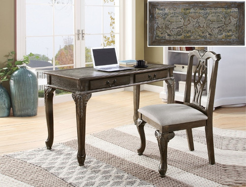 FAIRFAX HOME OFFICE DESK & CHAIR GREY-5205SET-GY