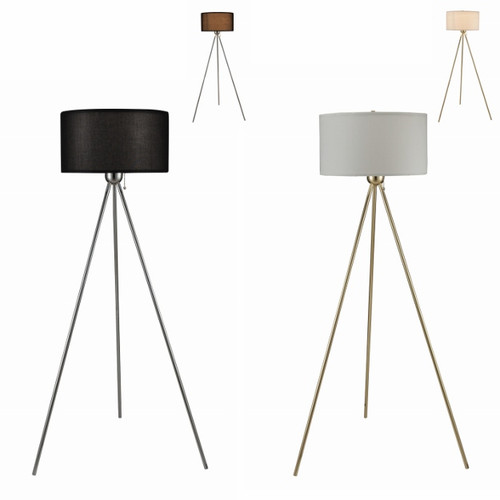 GOLD FLOOR LAMP WITH WHITE SHADE -6251F-GD