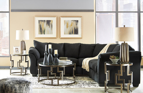 DARCY BLACK COLLECTION SECTIONAL SET-75008-55-56